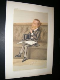 Vanity Fair Print 1885 Justin McCarthy, Irish Newspaperman